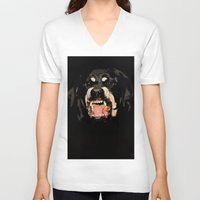 givenchy V-neck T-shirts featuring Givenchy Antigona Rottweiler Art Print by Le' + WK$amahoodT Boutique by Paynasa®