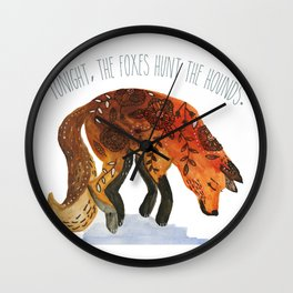 We Are Wild. Wall Clock