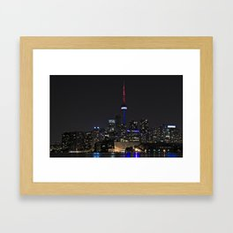 Toronto at Night Framed Art Print