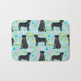 Black Lab labrador retriever dog breed pet art easter pattern costume spring Bath Mat