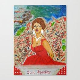 Ain't She A Dish, Sophia Loren! Canvas Print