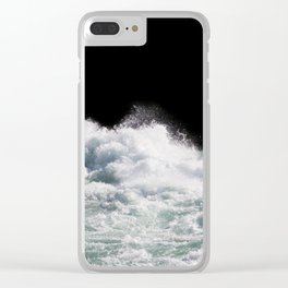 Water Photography | Wild Rapids | Waves | Ocean | Sea Minimalism Clear iPhone Case