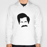 parks and recreation Hoodies featuring Ron Swanson Parks & Recreation by Sutton Long