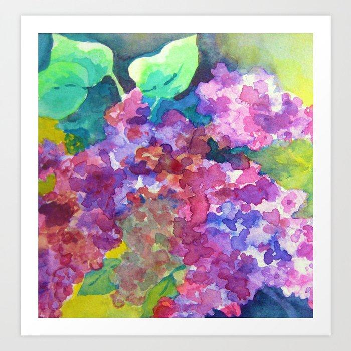 Bold Color Lilacs Art Print