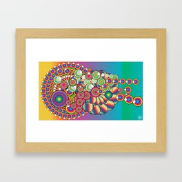 Circus Dripper Framed Art Print