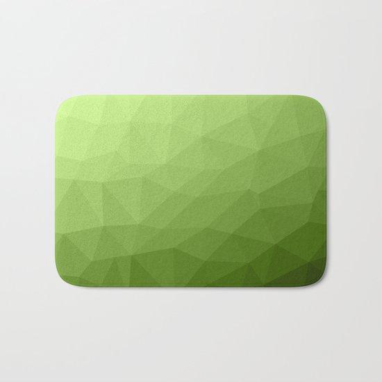 Greenery ombre gradient geometric mesh Bath Mat