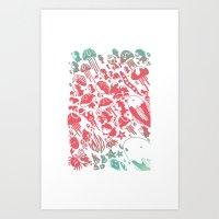 ponyo Art Prints featuring Ponyo by drawnbyhanna