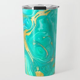 Geode 52 Gold Stone Slab Travel Mug