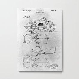 Motorcycle saddle Metal Print