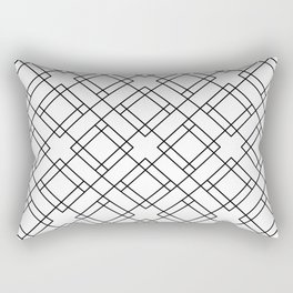 Simply Mod Diamond Black and White Rectangular Pillow