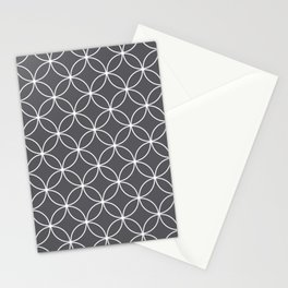 Circles Graphite Gray Stationery Cards