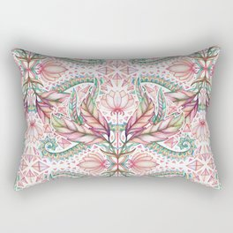 Lily, Leaf & Triangle Pattern – multi-color version Rectangular Pillow