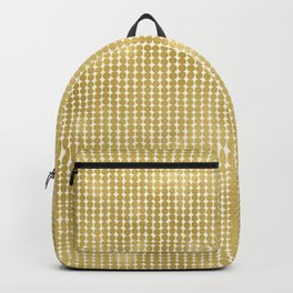 Midcentury Modern Dots in Gold Backpack