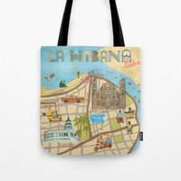 cuba Tote Bags featuring Cuba by Sahily Tallet Yip