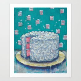 Peace of Cake Art Print