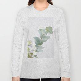Gentle Soft Green Leaves #1 #decor #art #society6 Long Sleeve T-shirt