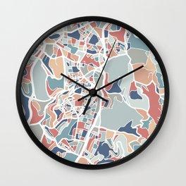 Jerusalem Map Art Wall Clock