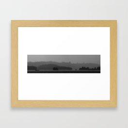 Islands, Monochrome Framed Art Print