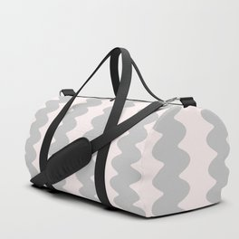 Winter 2019 Color: Gasp Gray on Millennial Pink Waves Duffle Bag