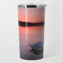 Swan on the lake Travel Mug