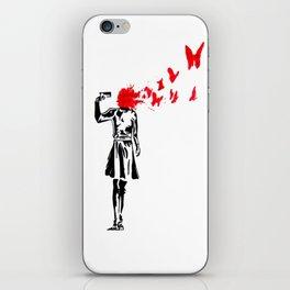 banksy gun iPhone Skin