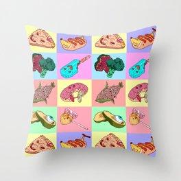 Sick Food Throw Pillow