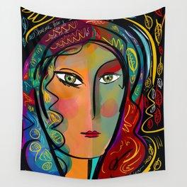 Just like Heaven Pop Art Portrait Wall Tapestry