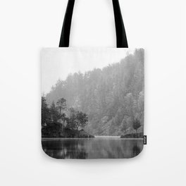 Historic Mattawa River in Black and White Tote Bag