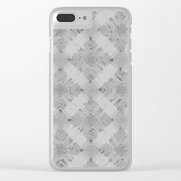 Pattern 71 Grey Clear iPhone Case
