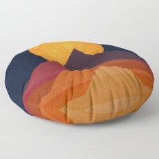 Full moon and pyramid Floor Pillow