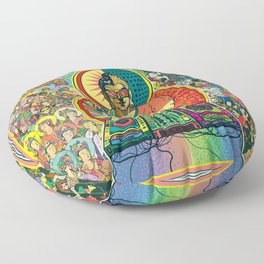 Life of Buddha - 7. Enlightenment and teaching  Floor Pillow