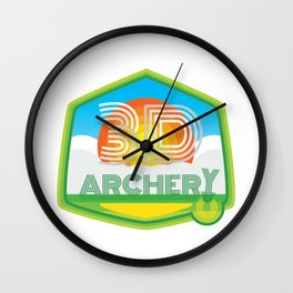 3D ARCHERY - CLASSIC CLEAN LOGO Wall Clock