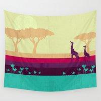 safari Wall Tapestries featuring Safari by Kakel