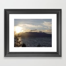 Sunset in Lake Tahoe Framed Art Print