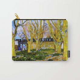 Avenue of Plane Trees near Arles Station, Vincent van Gogh Carry-All Pouch