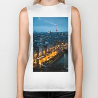paris Biker Tanks featuring Paris by Luca Spanu