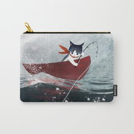 """Catfish"" - cute fantasy cat mermaids illustration Carry-All Pouch"