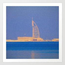 Burj AL Arab Architecture Art Art Print