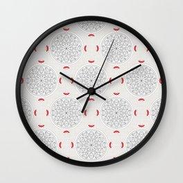 Kiss Rosette Lace Wall Clock