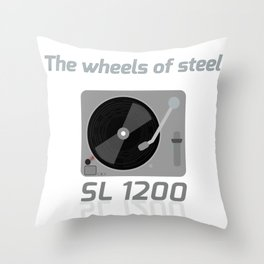 The wheels of steel Throw Pillow