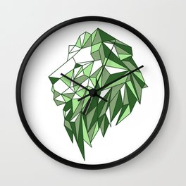 Polygon Lion Wall Clock