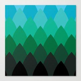 Forest Ombré Canvas Print