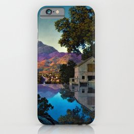 Evening Shadows by Maxfield Parrish iPhone Case