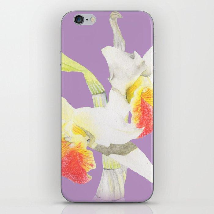 Dendrobium Heterocarpum 2 iPhone Skin