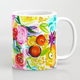 Neon Summer Floral // Small print Coffee Mug