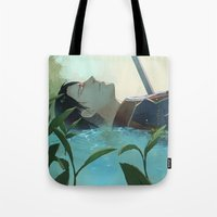 levi Tote Bags featuring The dreamer (Levi, SnK) by sushishishi