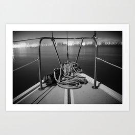Black and White Boat Life Art Print
