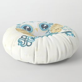 Winter Wonderland Owl Floor Pillow