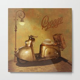 Goggo scooter from the 50s Metal Print