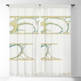 Interior showcase decor for Fouquet by Alphonse Maria Mucha (1869-1939) Blackout Curtain